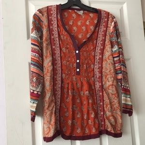 Lucky Brand Tops - Lucky Brand Paisley Print Long Sleeve